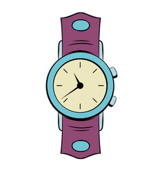 watch icon cartoon vector image