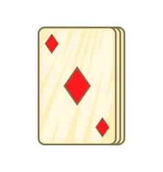 Playing card diamonds icon cartoon style vector