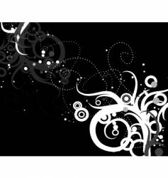 Swirls and circles vector