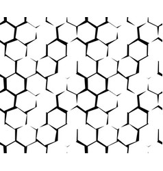 Abstract pattern of unequal cracks hexagons vector