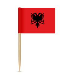 Albania flag toothpic 10eps vector