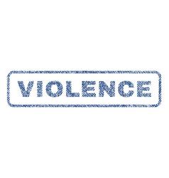 Violence textile stamp vector
