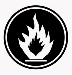 Flammable caution sign fire isolated danger vector
