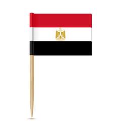Flag of egypt flag toothpick on white background vector