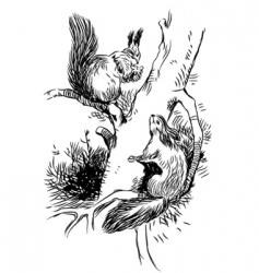 cartoon squirrels vector image