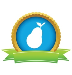 Gold pear logo vector