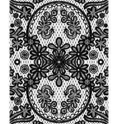 Beautiful floral lace with a circular elements vector