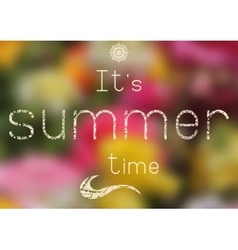 Summer print - summer time vector