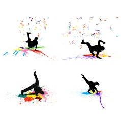 Dance grunge set vector