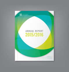 Abstract annual report cover flyer poster vector