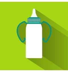 Baby milk bottle vector