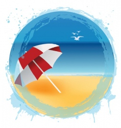 Beach logo vector