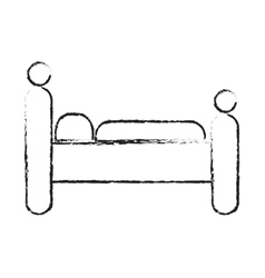 bed icon image vector image