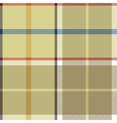 Beige plaid fabric texture seamless pattern vector