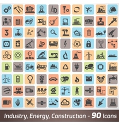 big set of industry engineering and construction vector image