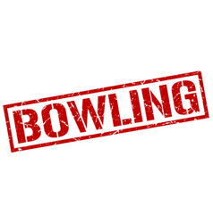 Bowling stamp vector