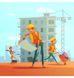 Building and construction industry vector