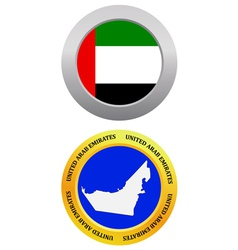 button as a symbol UNITED ARAB EMIRATES vector image