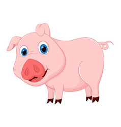 cute pig cartoon vector image vector image