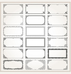 decorative frames and borders rectangle 2x1 vector image vector image