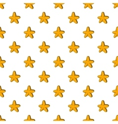 Five pointed star pattern cartoon style vector