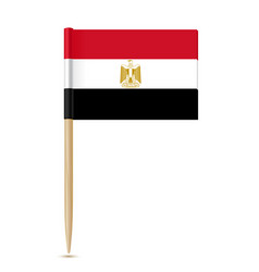 Flag of egypt flag toothpick on white background vector