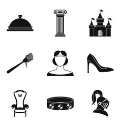 gaiety icons set simple style vector image vector image