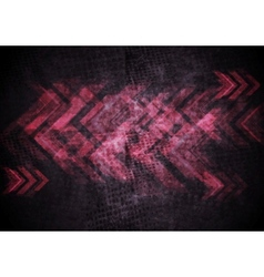 Grunge tech background with arrows vector