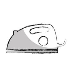 Iron cloths appliances icon vector