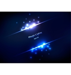 Magic lights abstract frame vector image