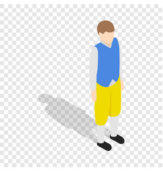 Man wearing in traditional swedish costume icon vector
