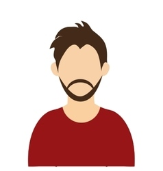 Man with brown hair and beard vector