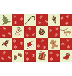 merry christmas seamless background vector image vector image