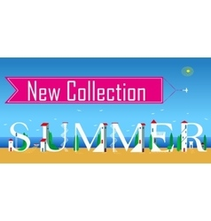 New collection summer artistic font vector