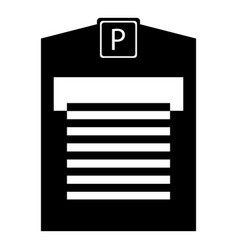 parking garage icon simple style vector image vector image
