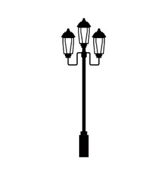 pictogram lamp post light street vector image