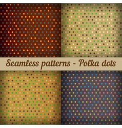 Polka dots Set of seamless patterns Abstract vector image vector image