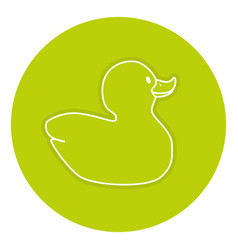 Rubber ducks isolated icon vector