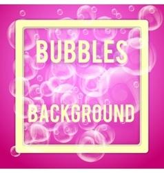 SPA aqua background with soap bubbles vector image vector image