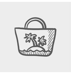 Summer bag sketch icon vector image