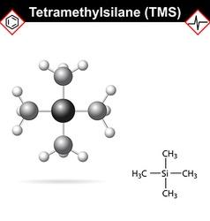 Tetramethylsilane - tms molecule vector