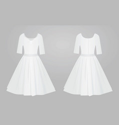 white women elegant dress vector image
