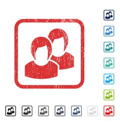 Women icon rubber watermark vector