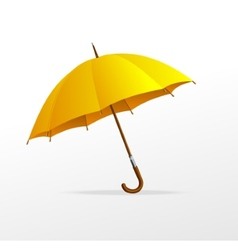 Yellow umbrella isolated vector