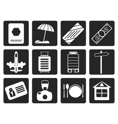 Black travel holiday and trip icon vector