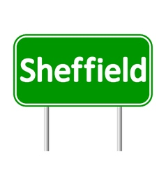 Sheffield road sign vector