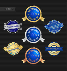 Set of satisfaction guarantee and premium quality vector