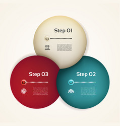 Business concept with three options vector