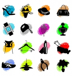 web site category icons vector image