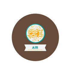 Stylish icon in color circle air sign zodiac vector